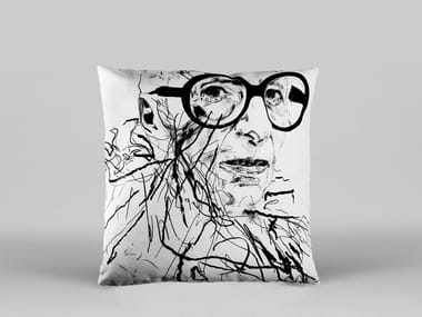 Square cushion with removable cover IRIS APFEL - ART18