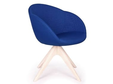Fabric chair with armrests IRIS