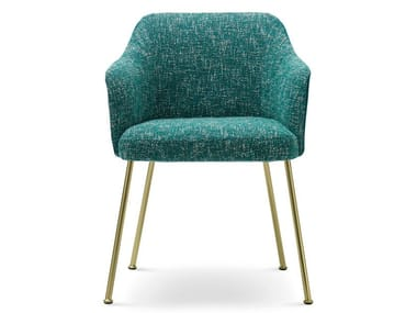 Upholstered fabric chair with armrests ISABELLE | Chair