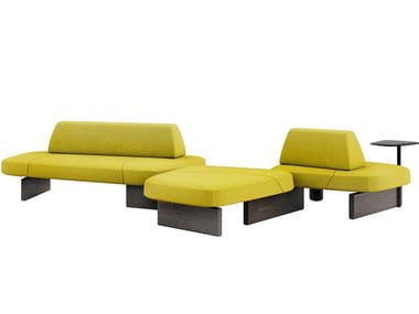 Modular bench with back ISCHIA