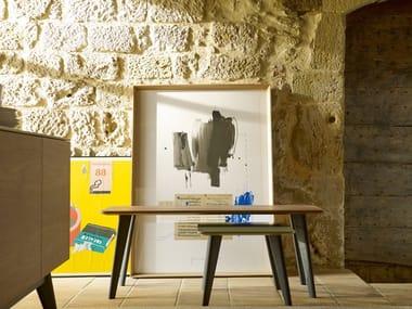 Tavolino da caffè rettangolare in legno ISCLA