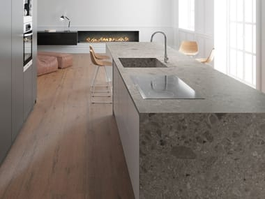 Porcelain stoneware kitchen worktop ISEO ITOPKER