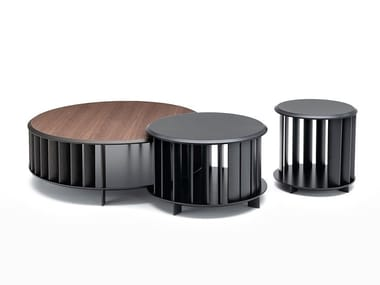 Round coffee table with storage space ISLANDS | Coffee table