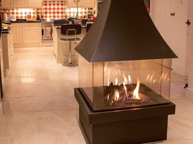 Gas central closed fireplace ISOLA 70
