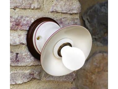 Applique a luce diretta e indiretta in ceramica ISOLA | Applique