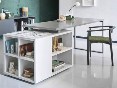 Lacquered rectangular writing desk ISOLA