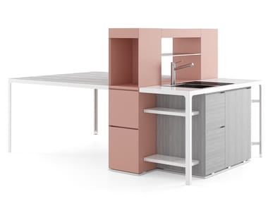 Mini kitchen with peninsula ISOLA SNACK