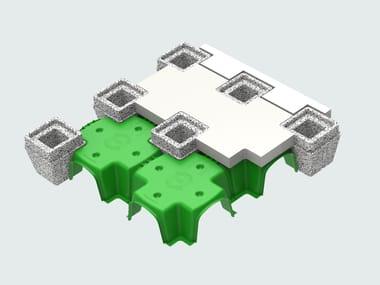 Dôme de plastique et module pour vide sanitaire aéré ISOLCUPOLEX PLUS