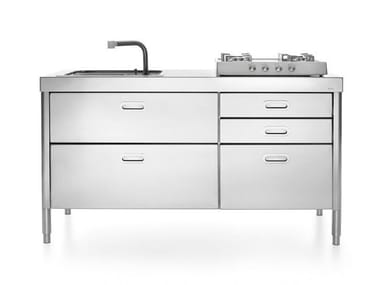 Stainless steel kitchen unit ISOLE CUCINA 160