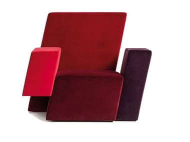 Fabric easy chair ITALIC