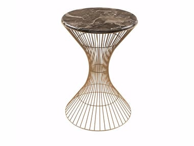 Round marble side table IVA