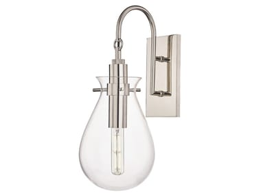 LED metal and glass wall lamp IVY