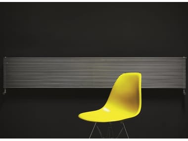 Radiateur décoratif horizontal mural en acier inoxydable IXSTEEL | Radiateur décoratif horizontal