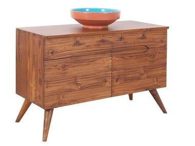 Single wooden vanity unit IZE