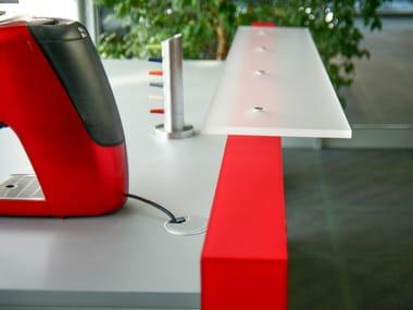 Illuminated plexiglass bar counter Coffee point
