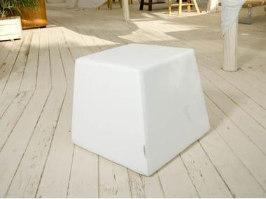 Square Eco-leather garden pouf DIAMONDS | Garden pouf