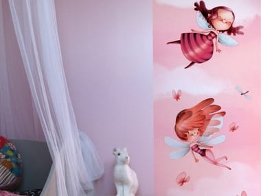 JET TEX kids wallpaper with floral pattern IN THE FAIRY TALES