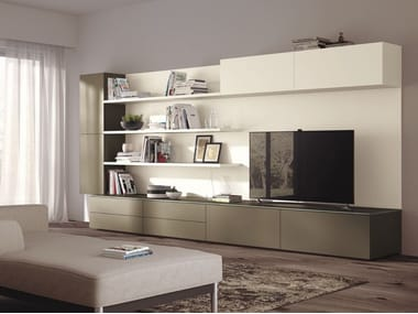 Sectional storage wall Indipendent modular storage units