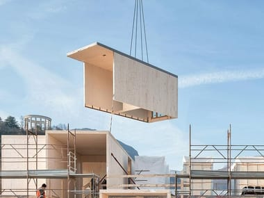Integrated timber structural system Integral X-Lam Systems