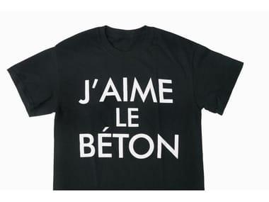 Cotton T-shirt J'AIME LE BÉTON