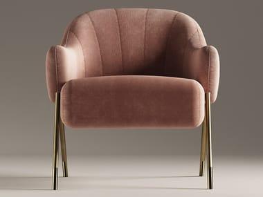 Velvet armchair with armrests JACKIE