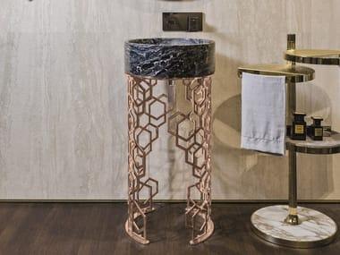 Freestanding round washbasin JACQUELINE
