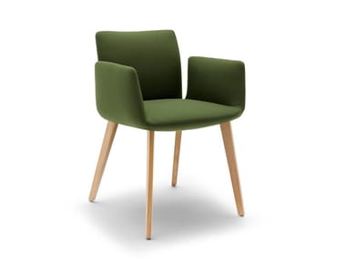 Upholstered chair with armrests JALIS | Chair with armrests