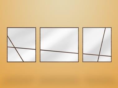 Rectangular wall-mounted framed mirror JAMES
