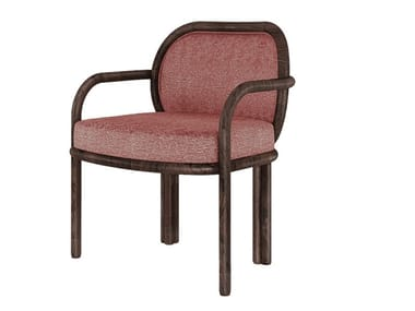 Fabric chair with armrests JAMES