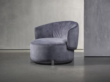 Upholstered fabric easy chair with armrests JANE | Easy chair