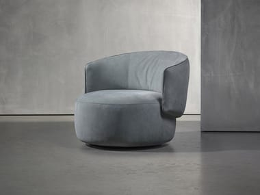 Swivel fabric easy chair with armrests JANE | Swivel easy chair