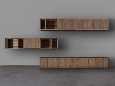 Sectional solid wood storage wall JANTAR