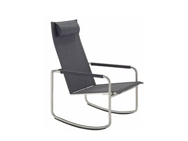 Rocking high-back chair with armrests JARDIN | Rocking chair