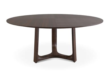 Round solid wood table JASPER