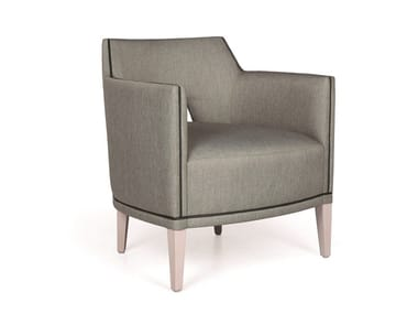Fabric easy chair with armrests JASPER MAPLE