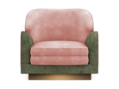 Velvet armchair with armrests JAYNE