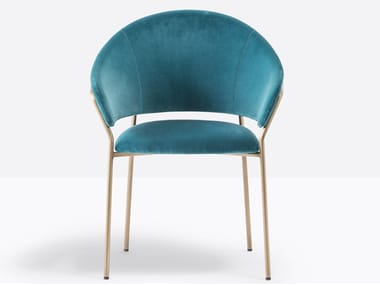 Upholstered fabric chair with armrests JAZZ 3716