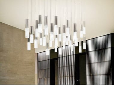 Satin glass pendant lamp JAZZ | Pendant lamp