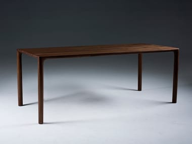 Rectangular solid wood table JEAN