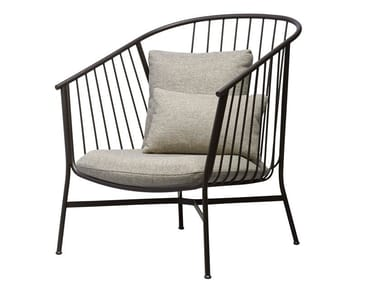Steel armchair with armrests JEANETTE | Armchair