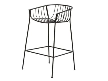 Steel stool with armrests JEANETTE | Stool