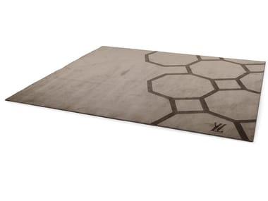 Rectangular fabric rug with geometric shapes JENNY | Rug