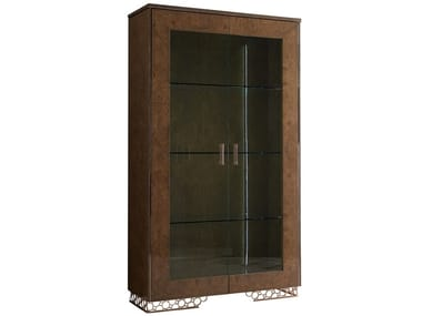 Lacquered wooden display cabinet with integrated lighting JENNY | Display cabinet