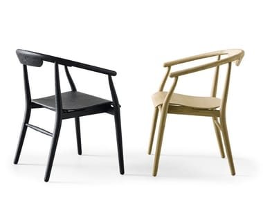 Wooden chair with armrests JENS | Wooden chair