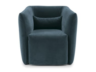 Upholstered fabric armchair with removable cover JILL   Armchair