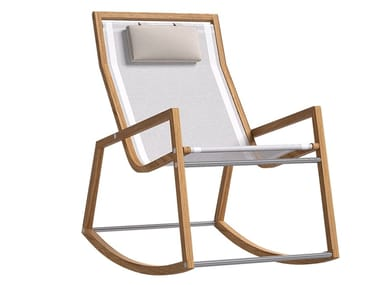 Rocking textilene chair with armrests JINGLE | Rocking chair