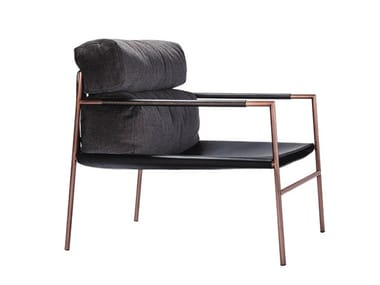 Leather easy chair with armrests JK EASY CHAIR