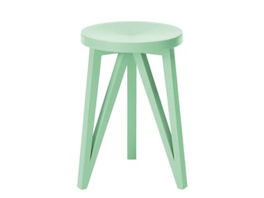 Low wooden stool JL1 FABER | Wooden stool