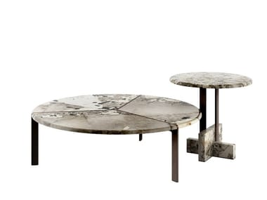 Round marble coffee table JOAQUIM