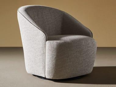 Swivel fabric armchair JOLIE
